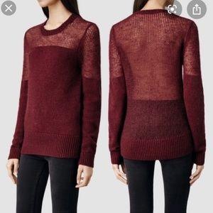 All saints mohair air jumper merlot sweater US 0